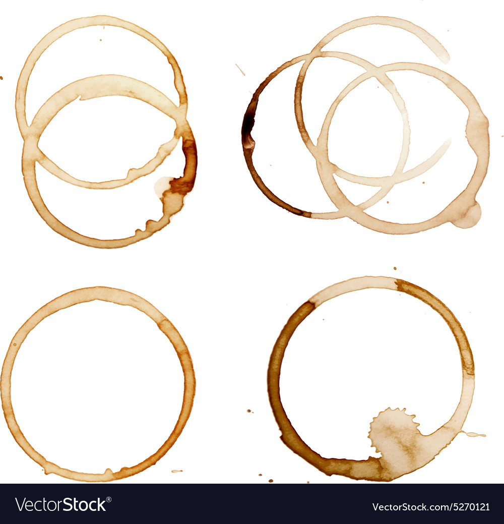 Coffee stain rings vector