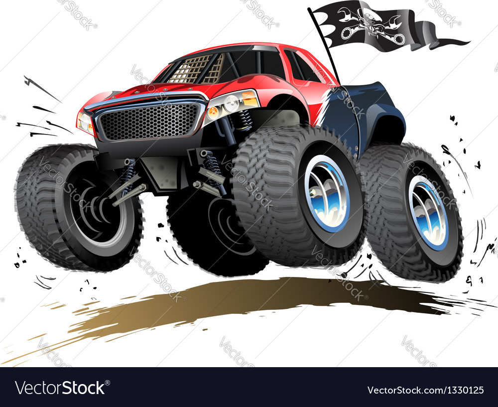 Cartoon monster buggy vector