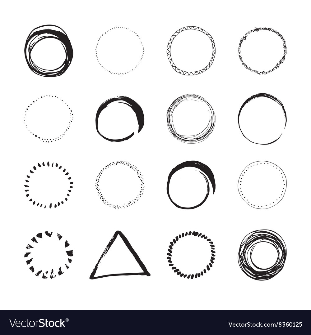 Handdrawn logo designs vector