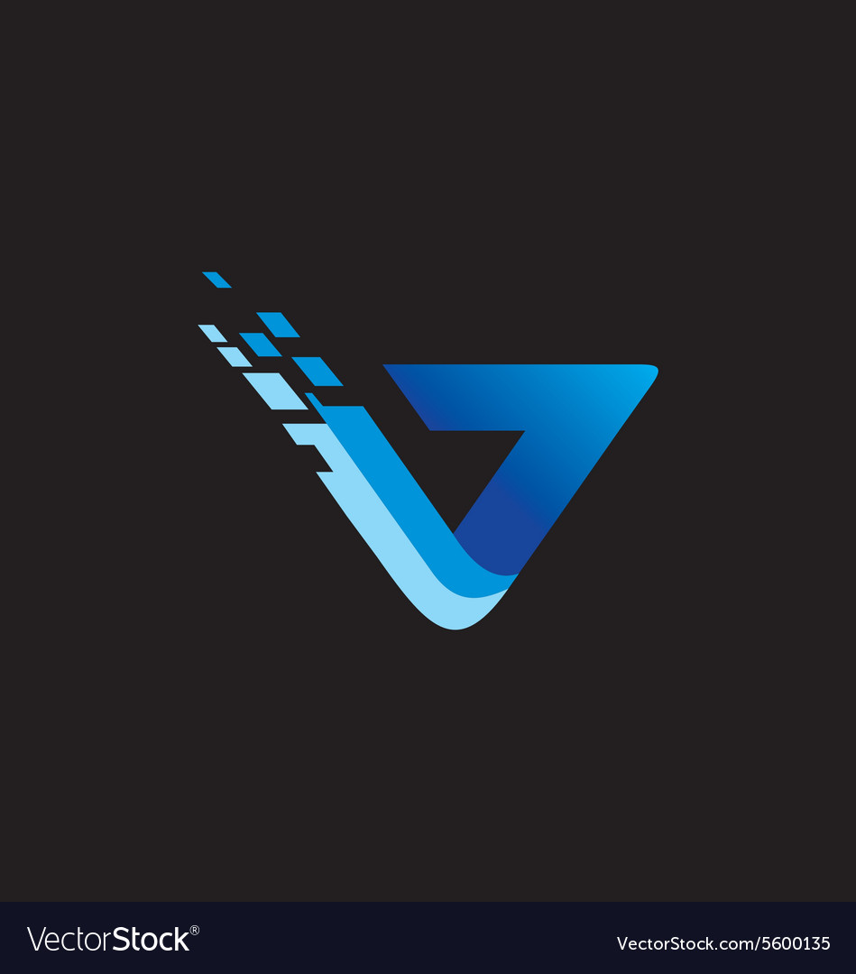 Abstract technology blue logo vector