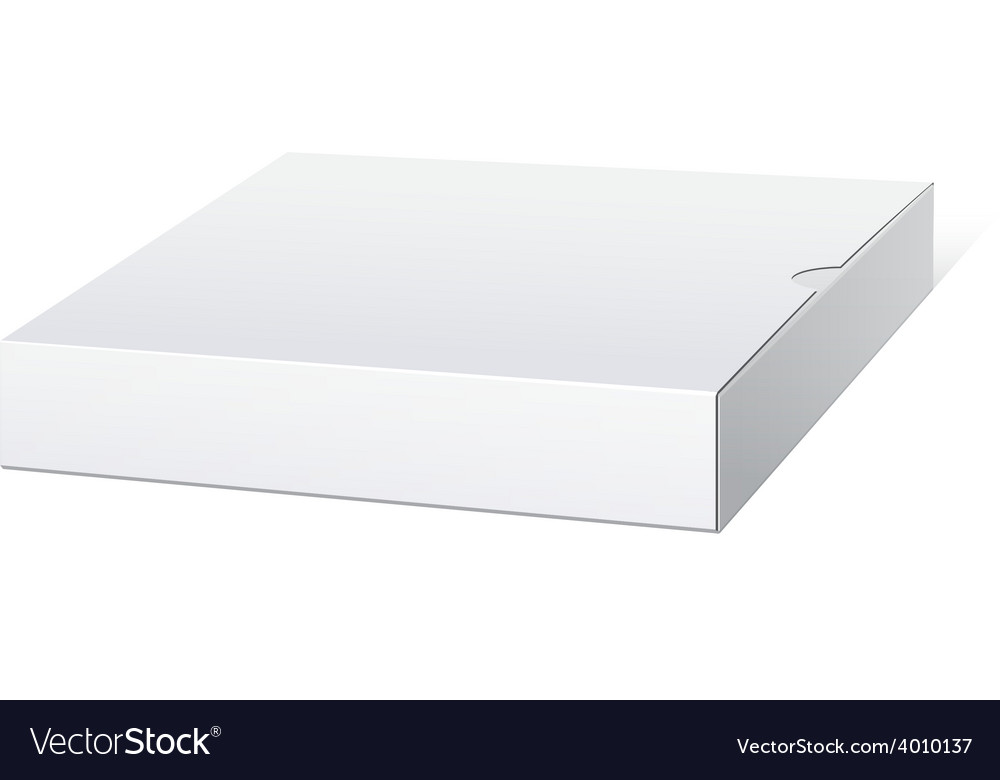 Slim white package box for electronic device vector