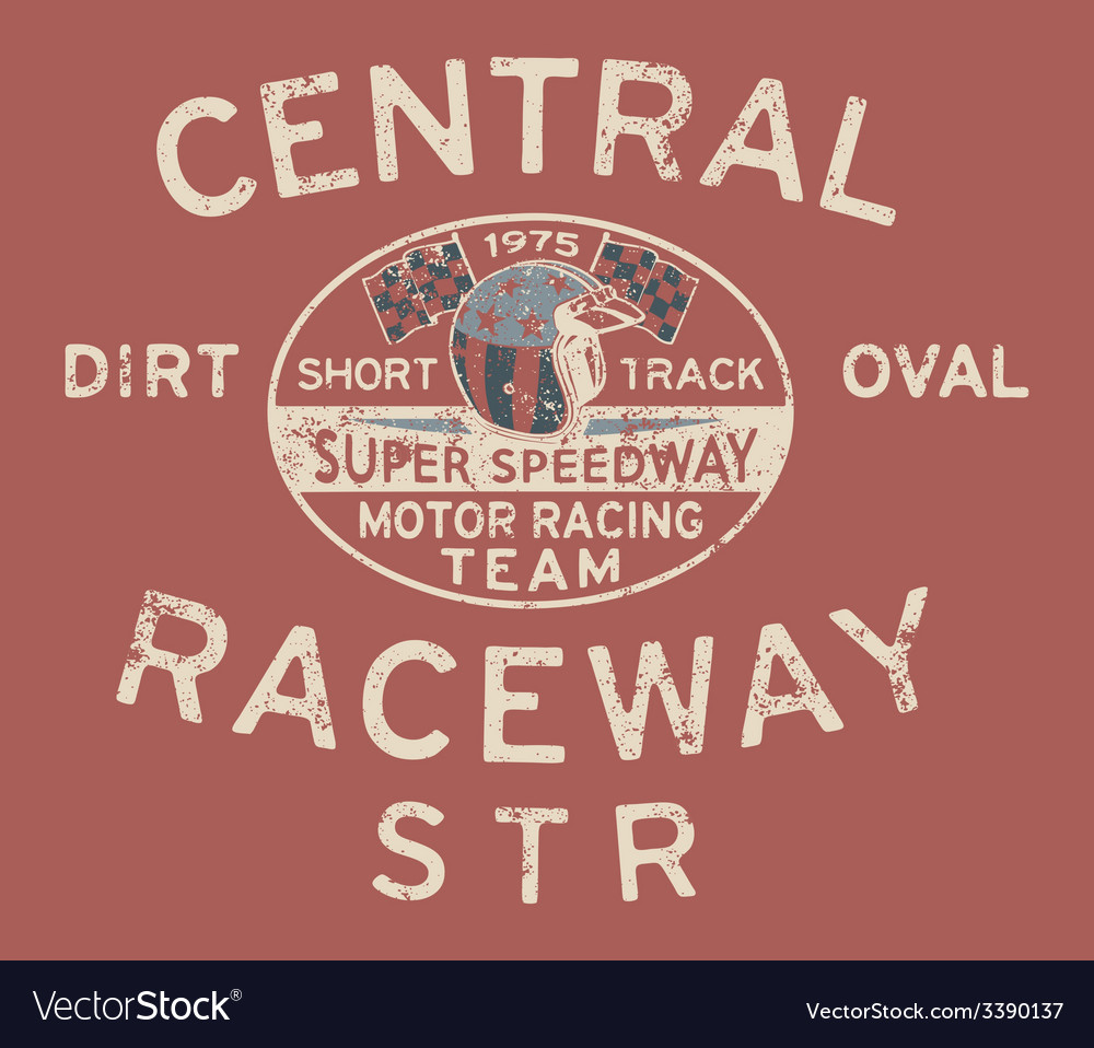 Speedway racing team vector