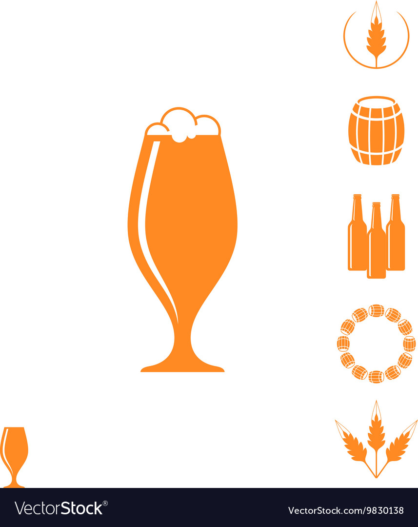Beer icon set vector