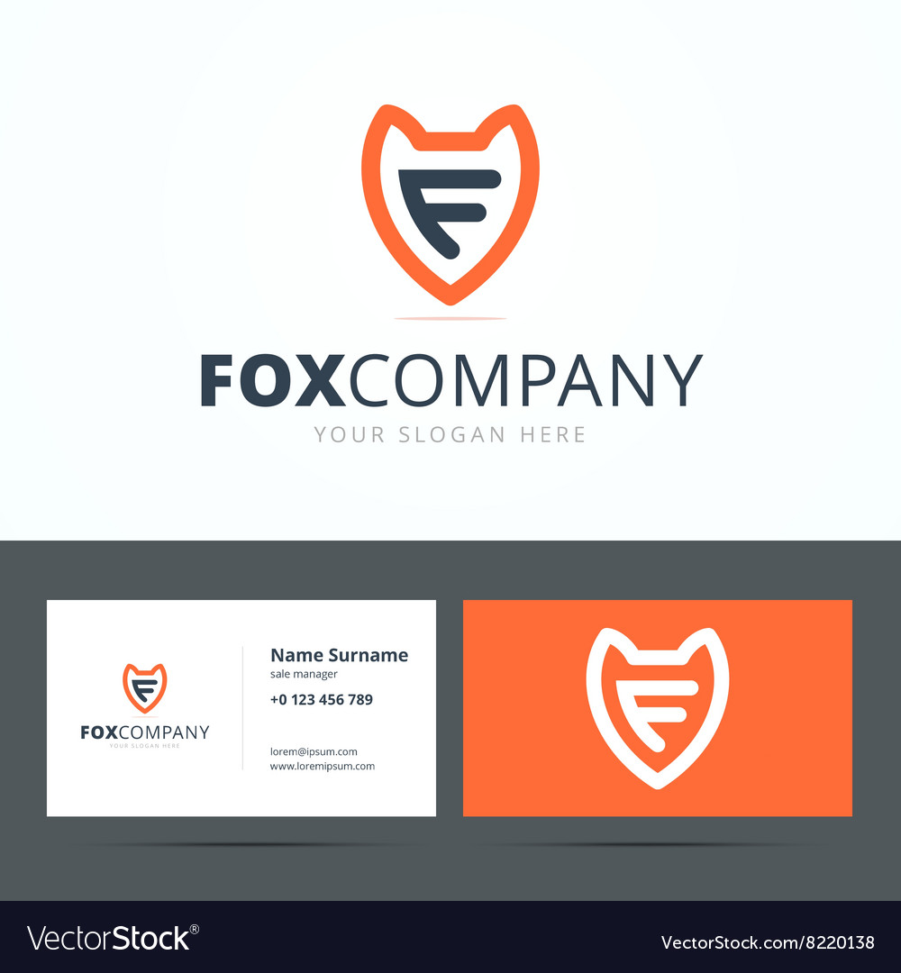 Logo and business card template vector