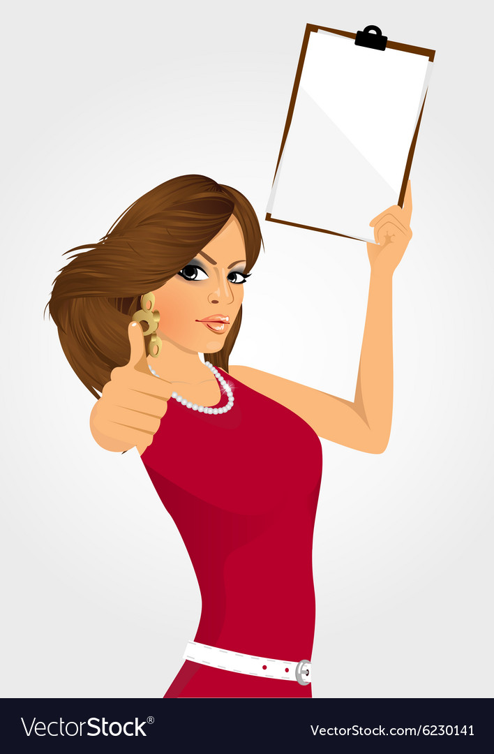Woman with clipboard vector