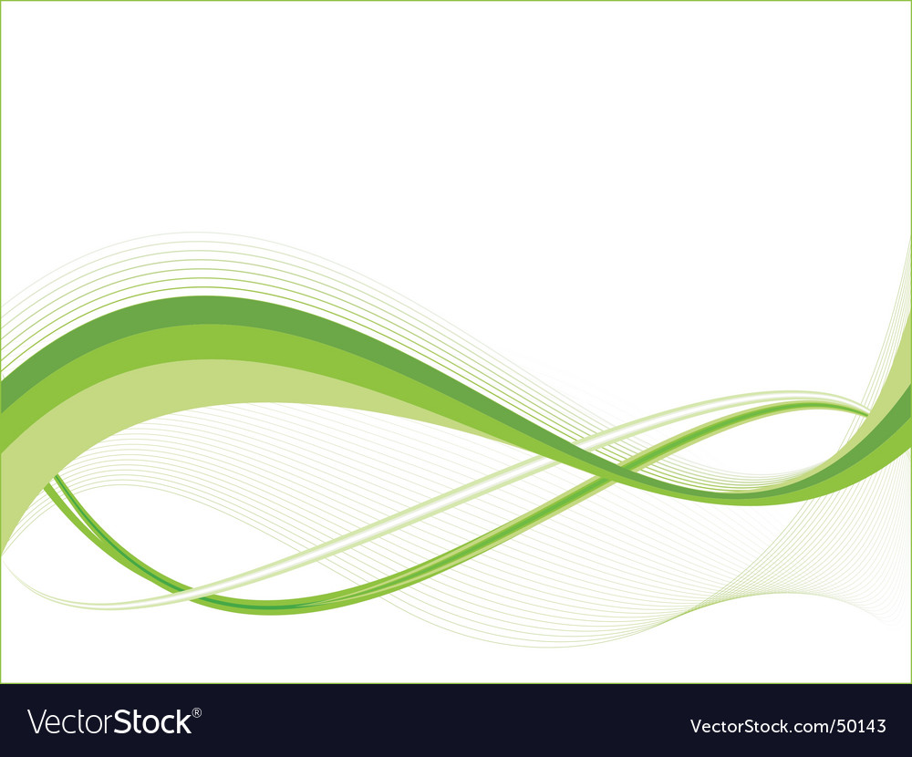 Green ecology wave background template vector