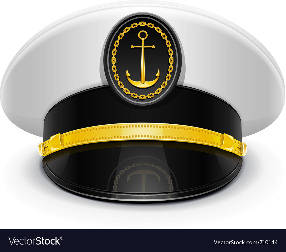 Captain peaked cap with vector