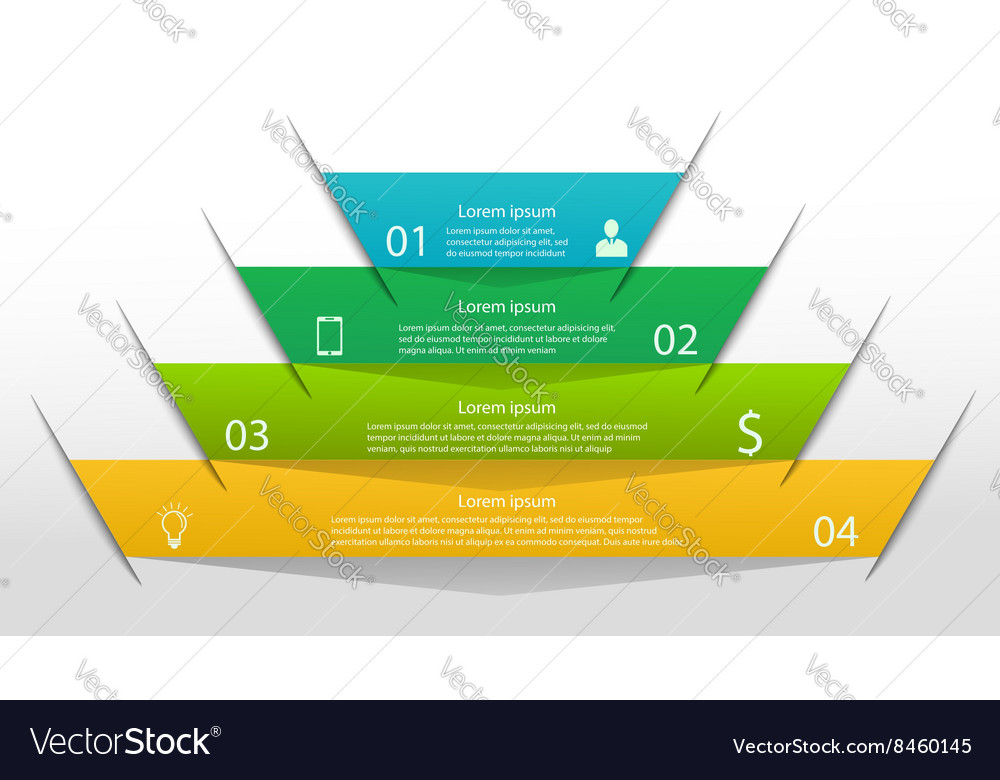 Pyramid infographic template vector