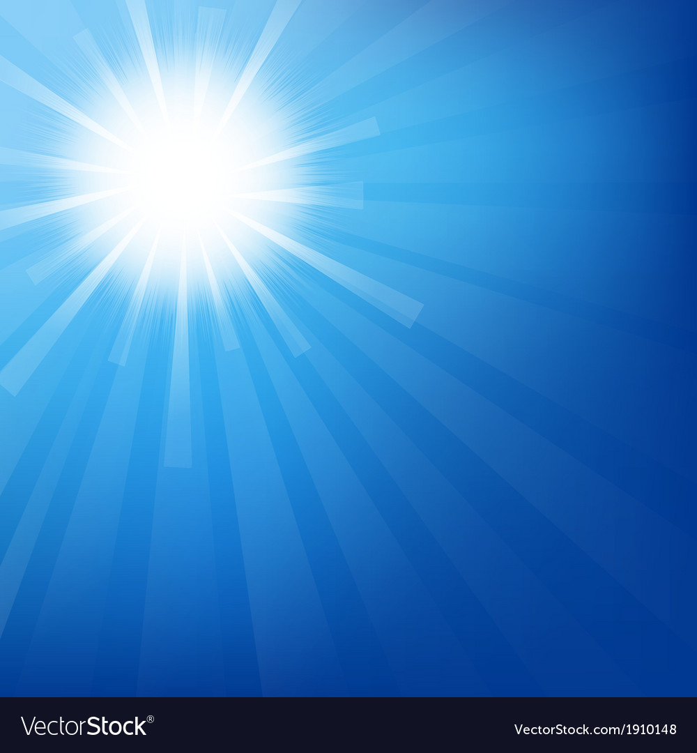 Sky with sunburst vector