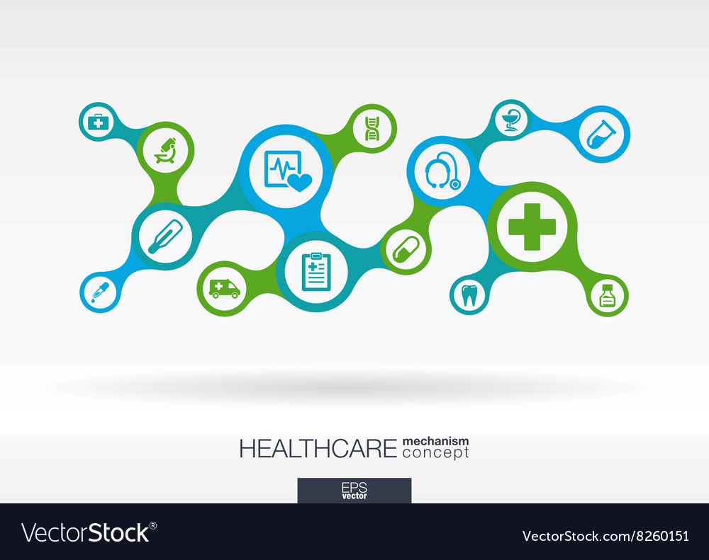 Healthcare growth abstract background with vector