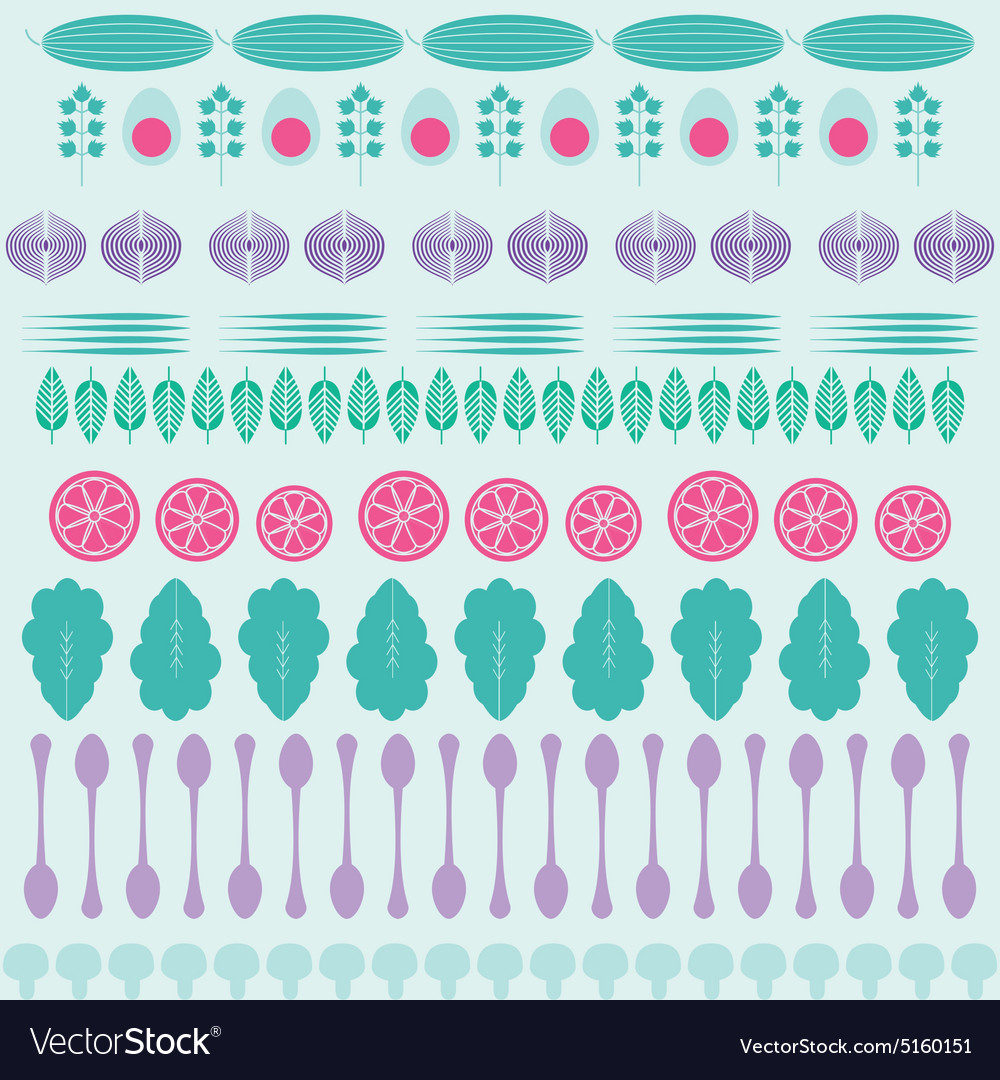 Vegetables pattern vector