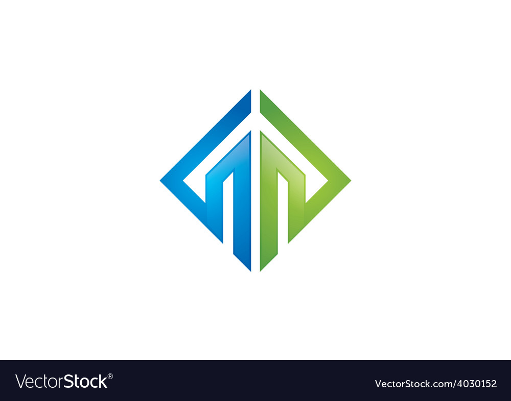 Abstract geometry construction logo vector