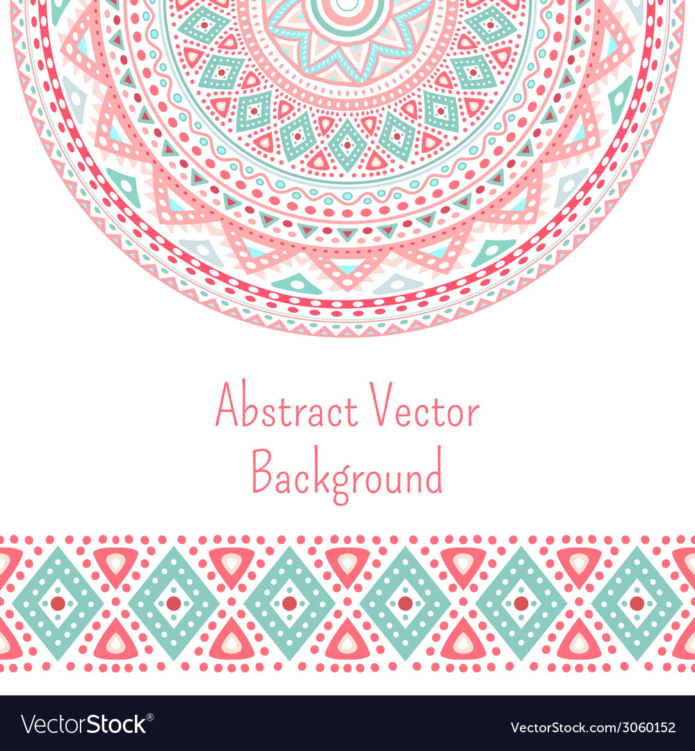 Tribal ethnic seamless stripe and round pattern vector