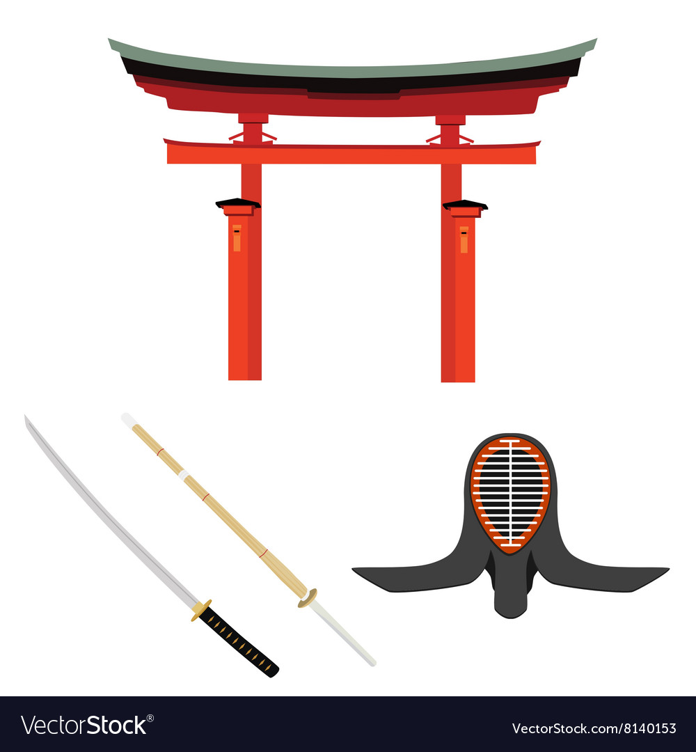 Japan martial art vector