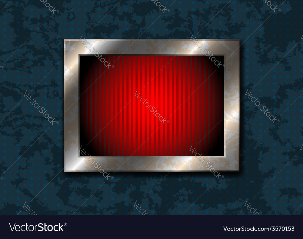 Square frame on the grungy surface vector