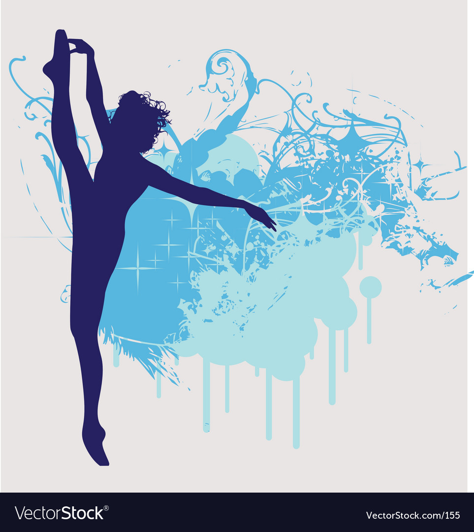 Ballet dancer leg up vector