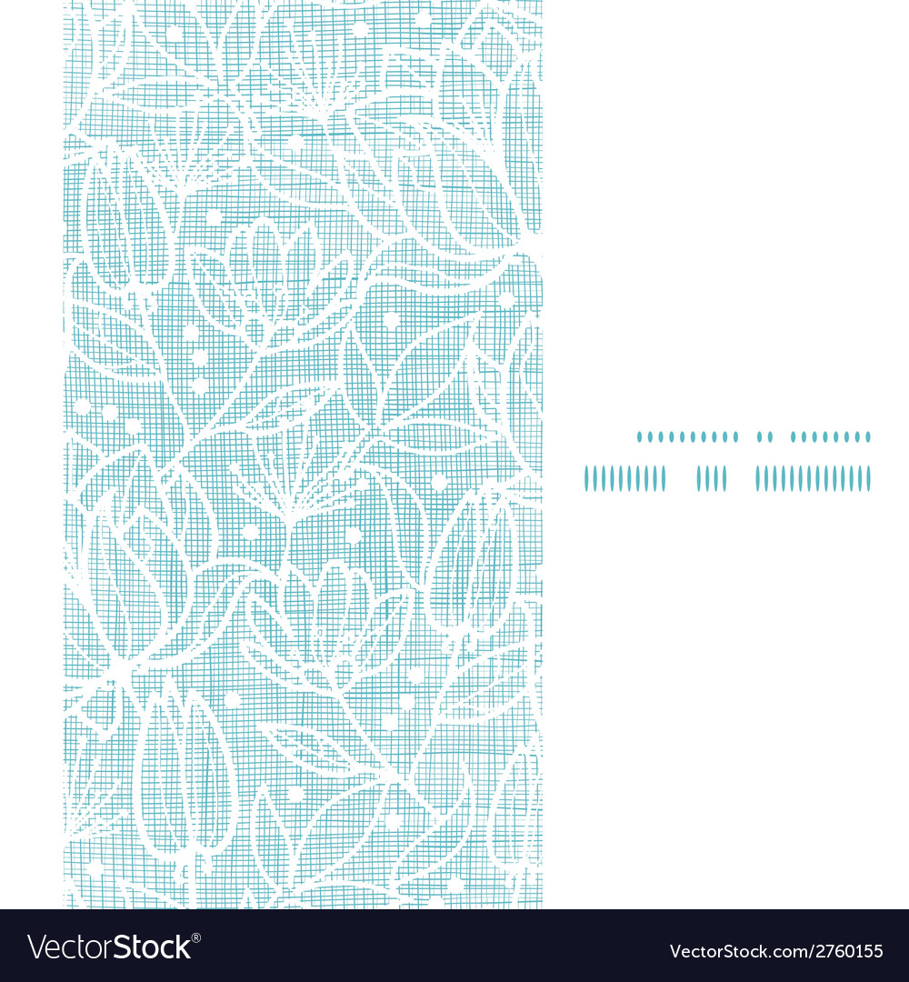 Blue lace flowers textile vertical frame seamless vector
