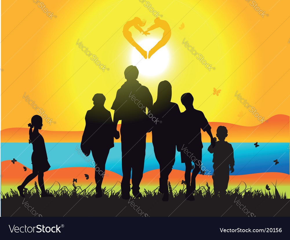 Family and nature vector