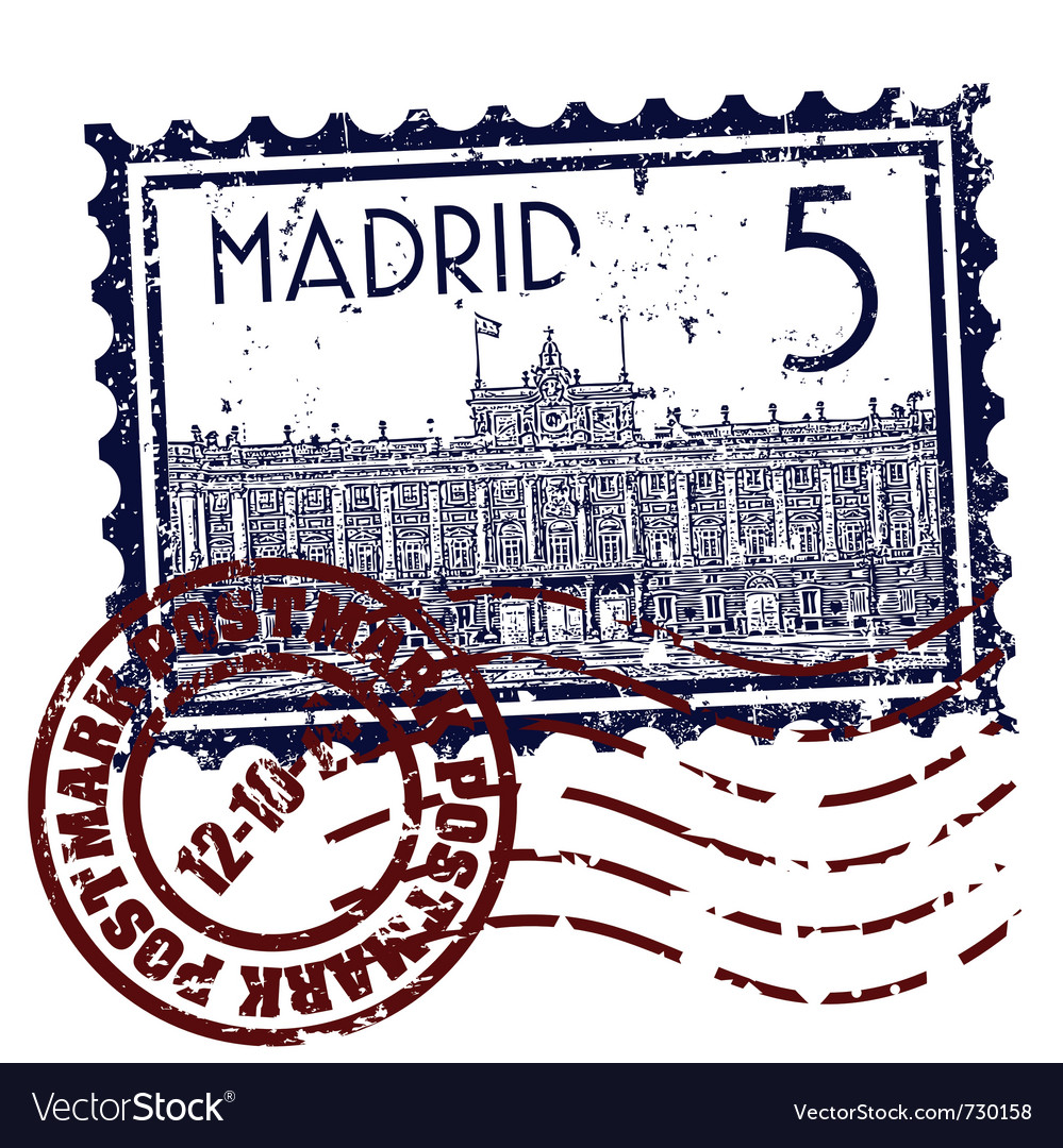 Madrid icon vector