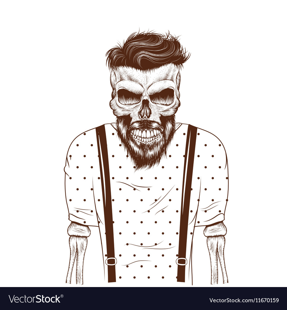 Fashion zombie dressed in tshirt vector