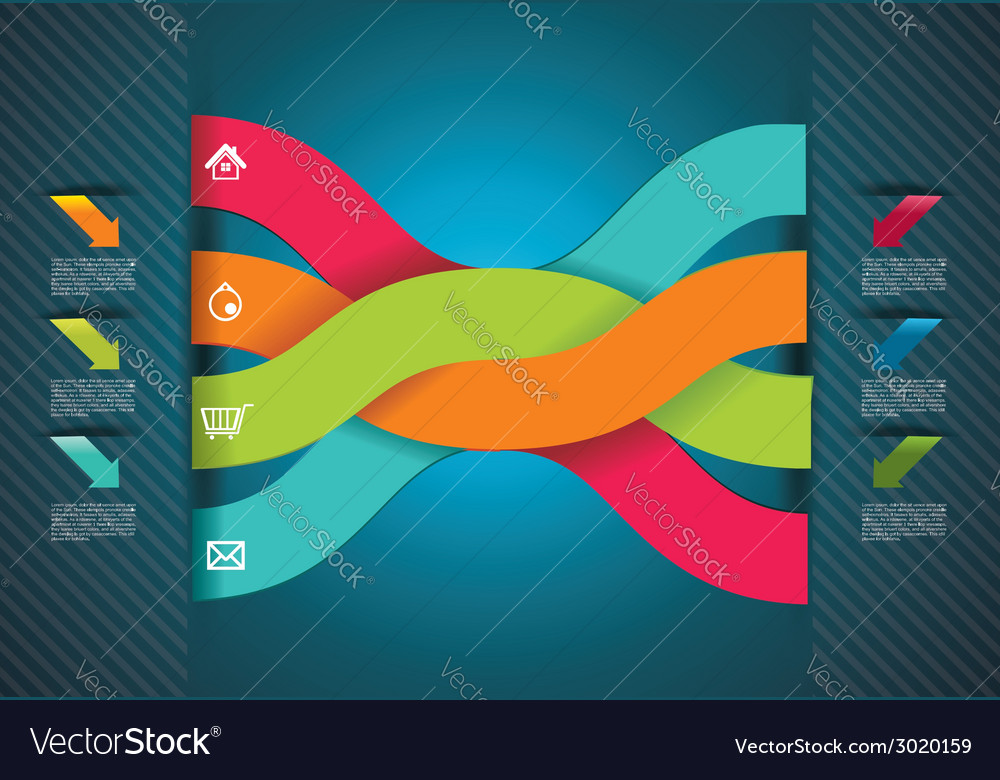 Modern origami style number options banner can be vector
