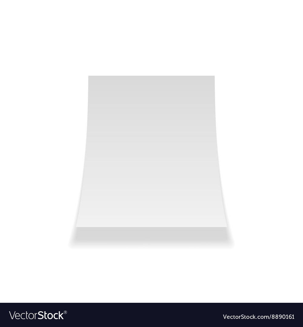 Curved paper sheet realistic template vector