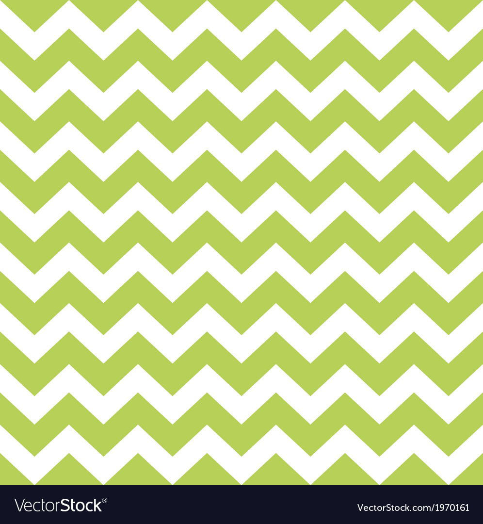 Zigzag pattern in wild green isolated on white vector