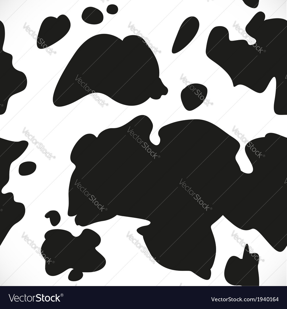 Cow blotchy skin background vector