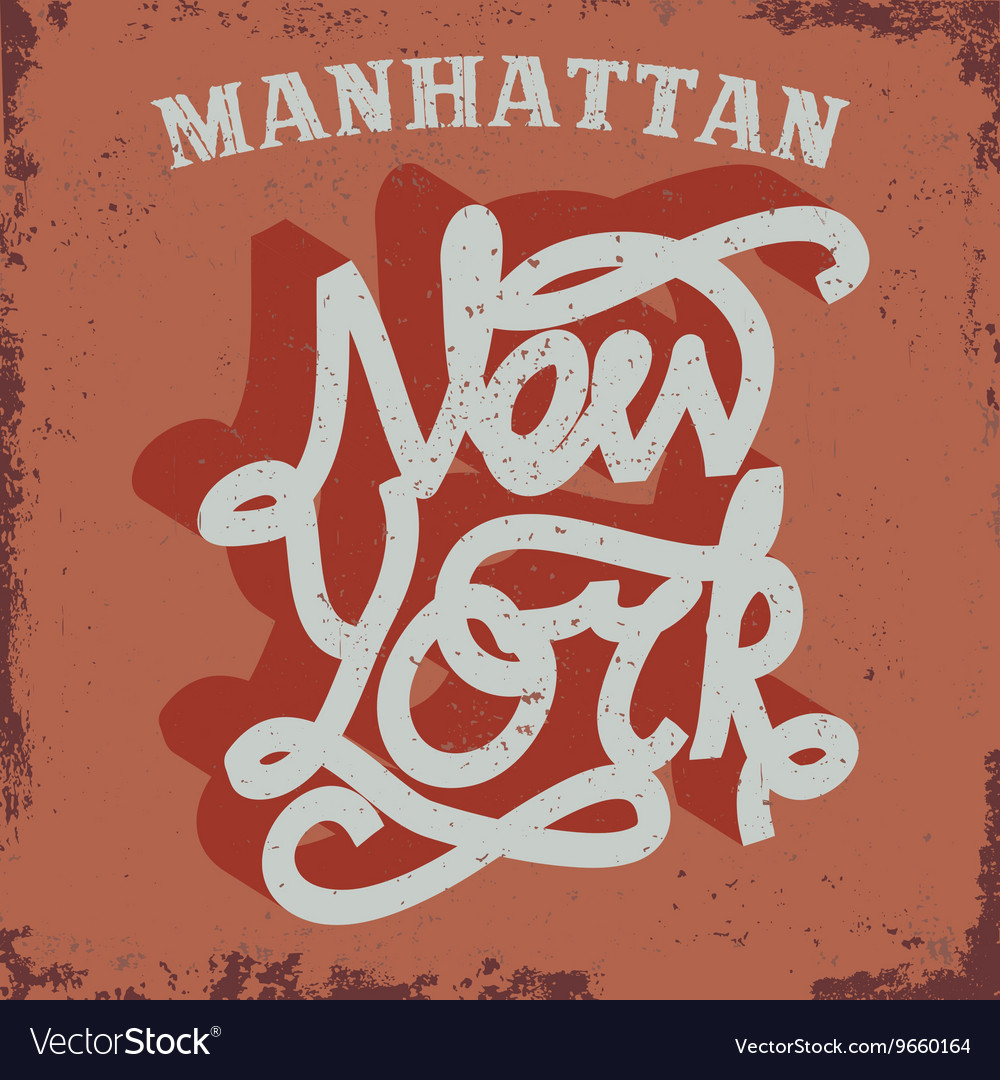 New york typography tshirt graphics vector