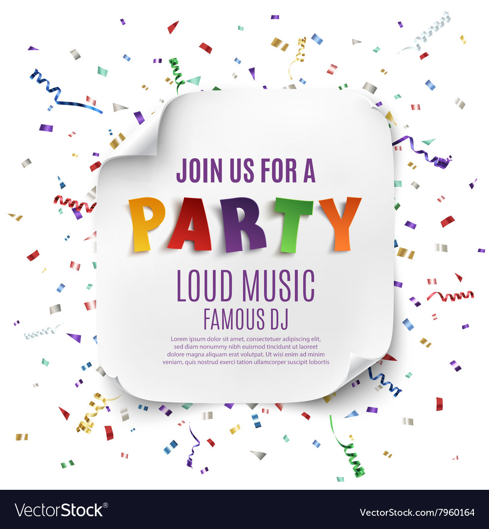 Party poster or background template vector