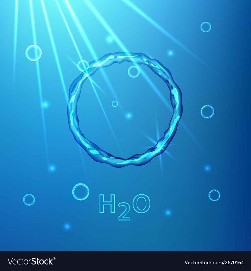 Water flow bubble vector