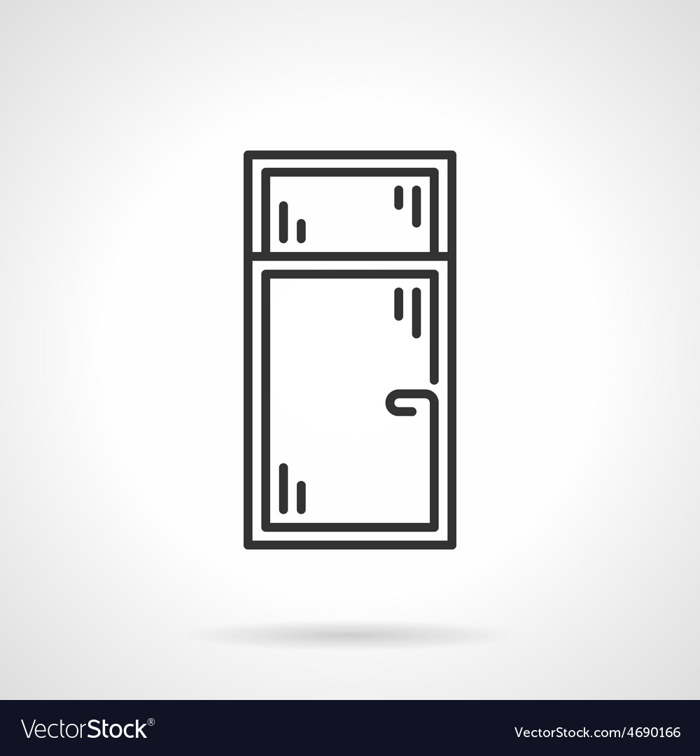 Black line icon for window vector