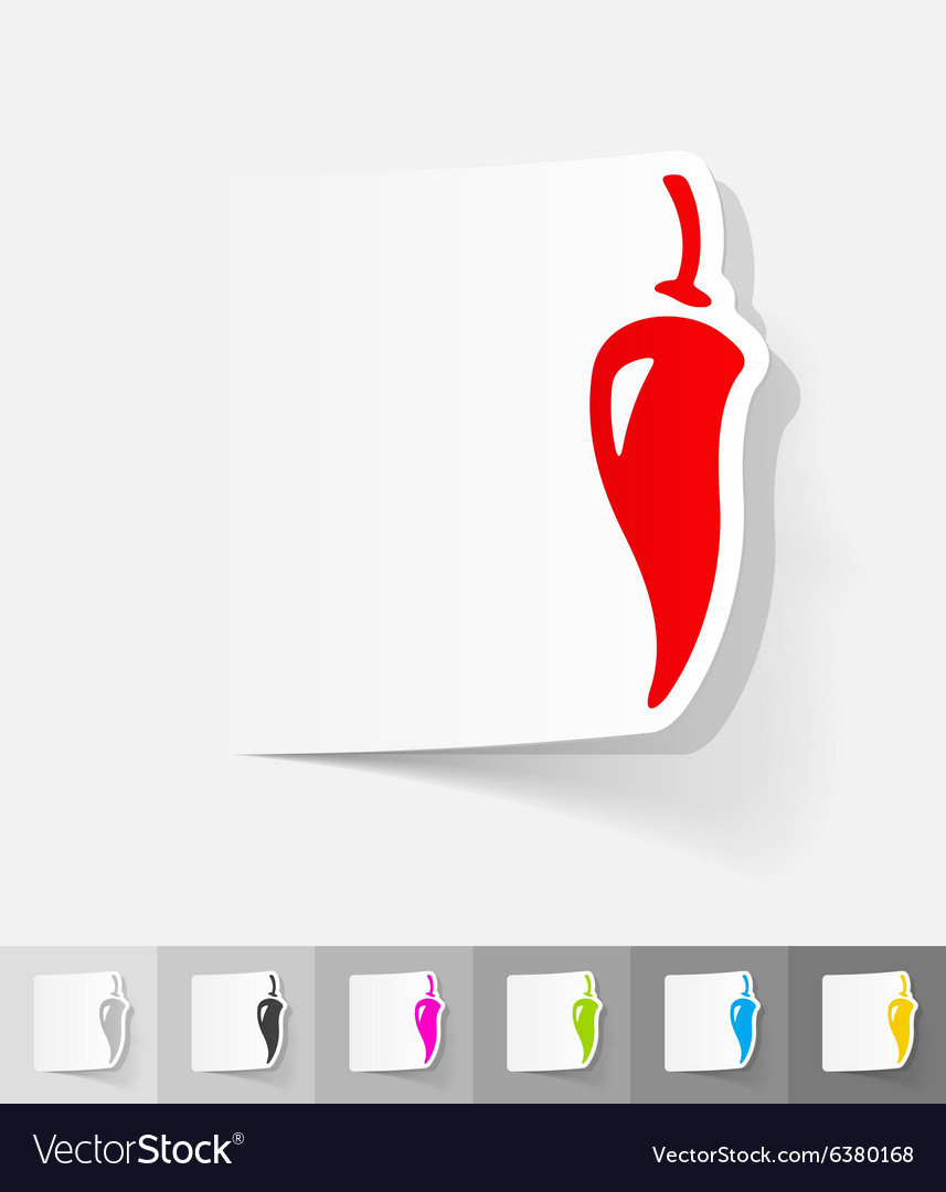 Realistic design element pepper vector