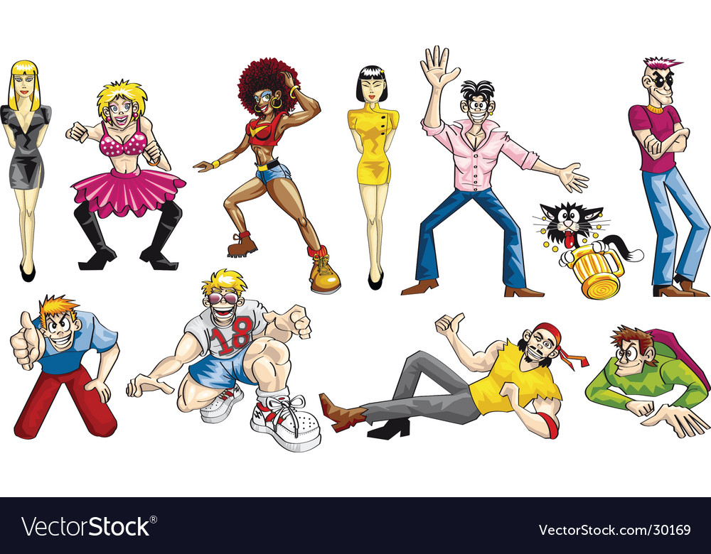 Party boys set vector