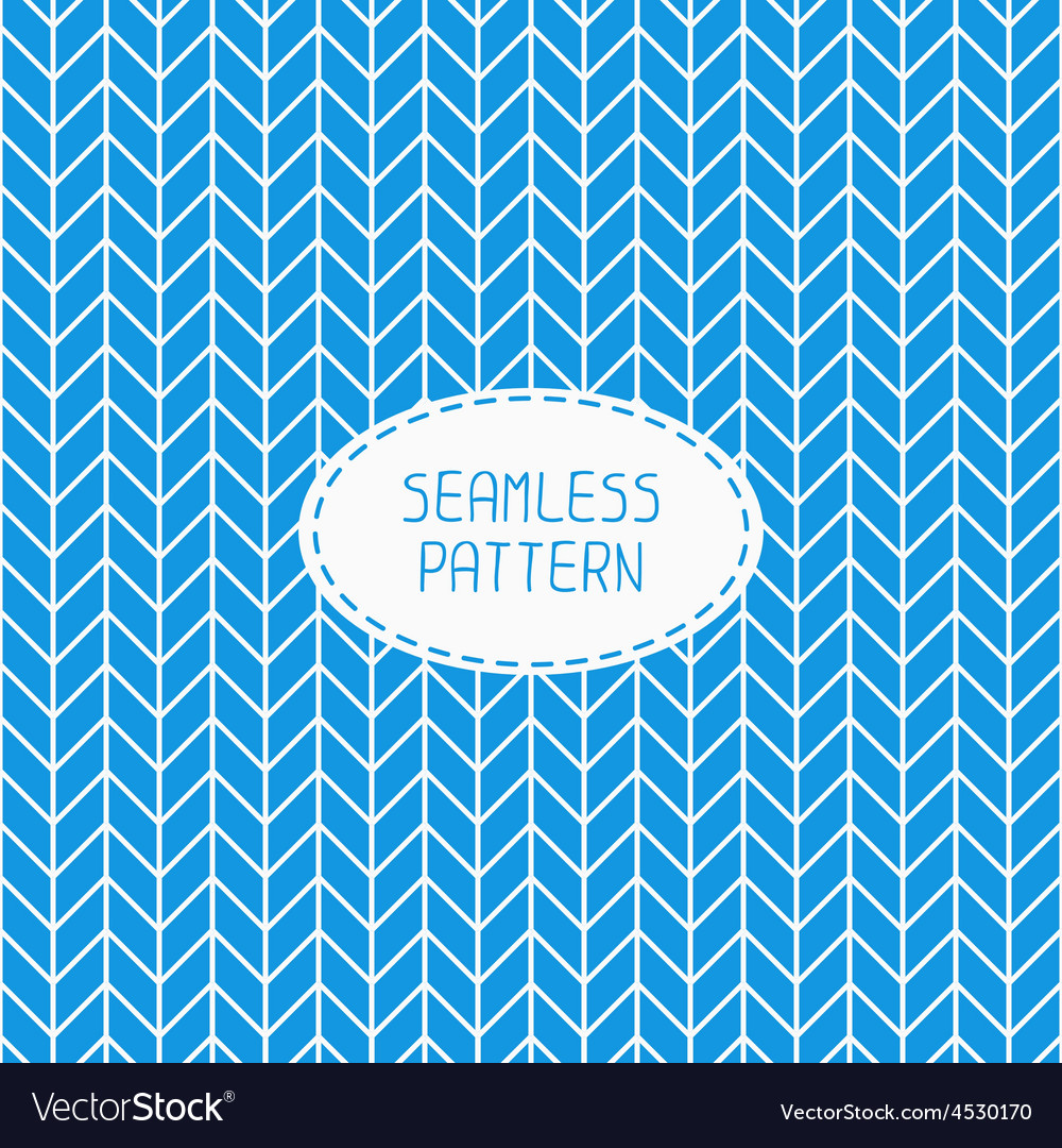 Blue geometric seamless pattern with chevron vector