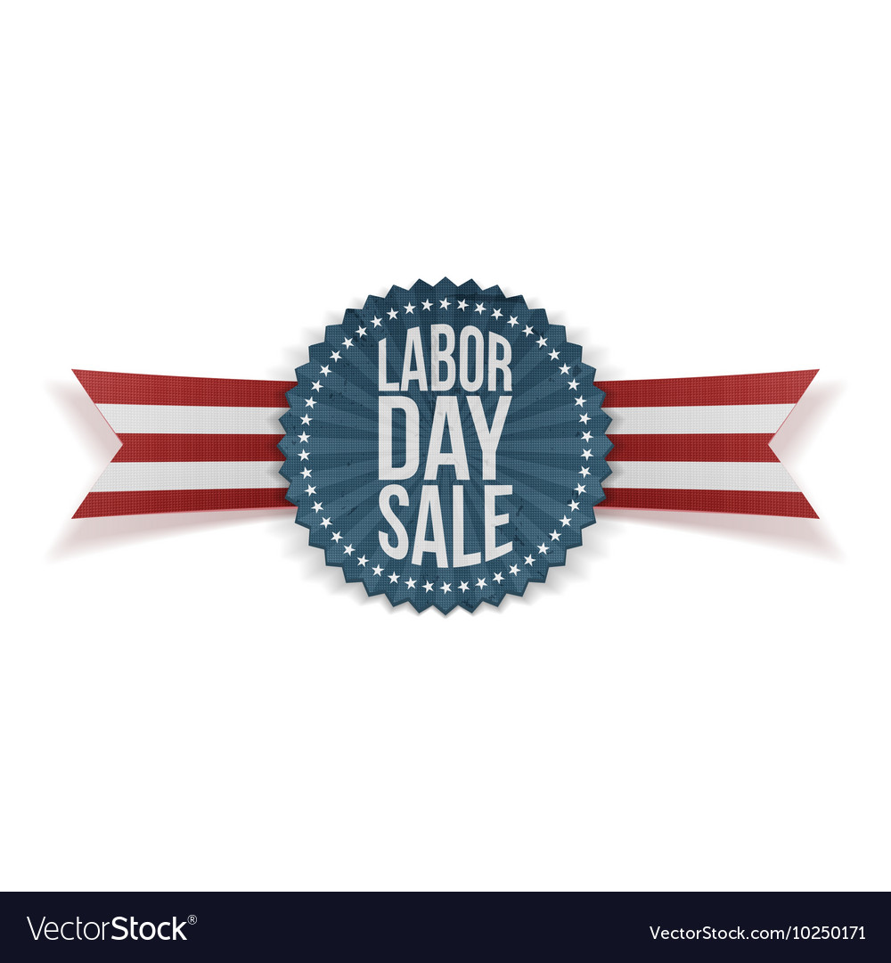 Labor day sale textile banner vector
