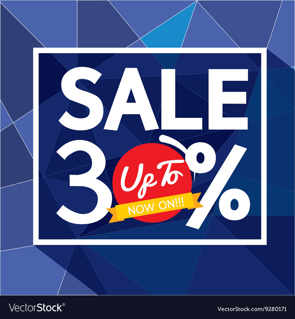 Sale uo to 30 percent banner vector