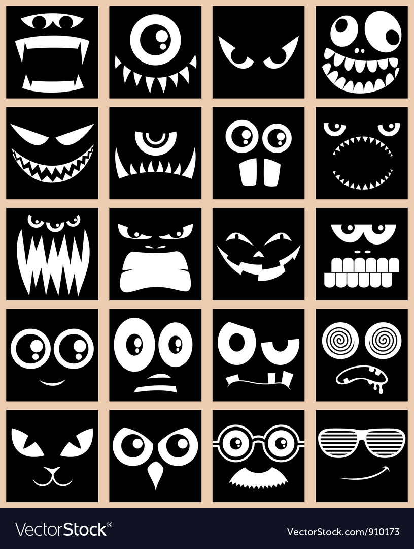 Avatars black vector