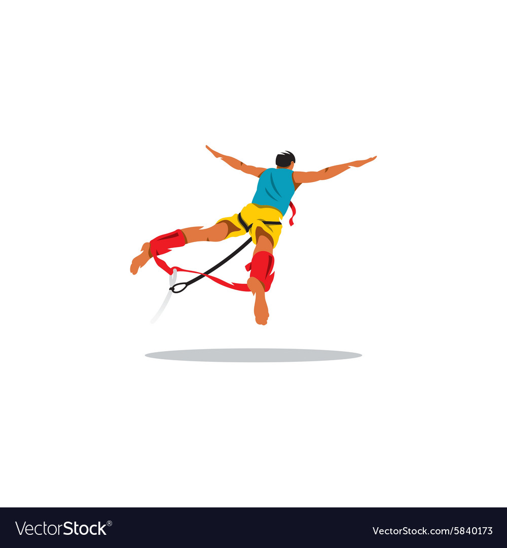 Bungy jumping sign vector