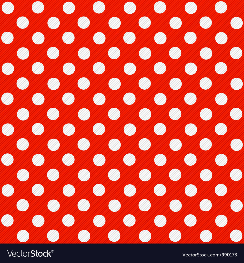 Seamless polka dot pattern vector