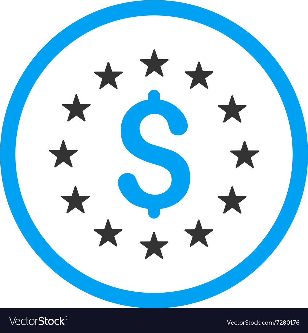 Dollar stars icon vector