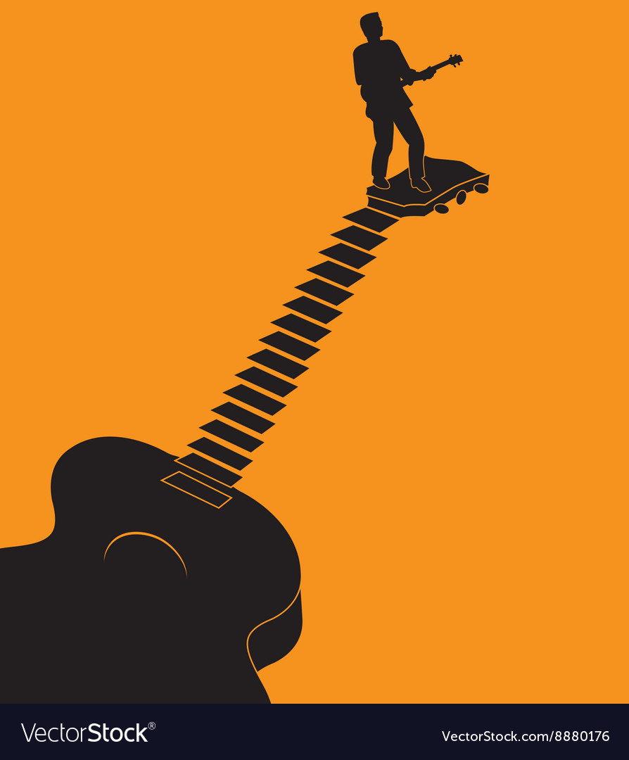 Guitar stairs vector