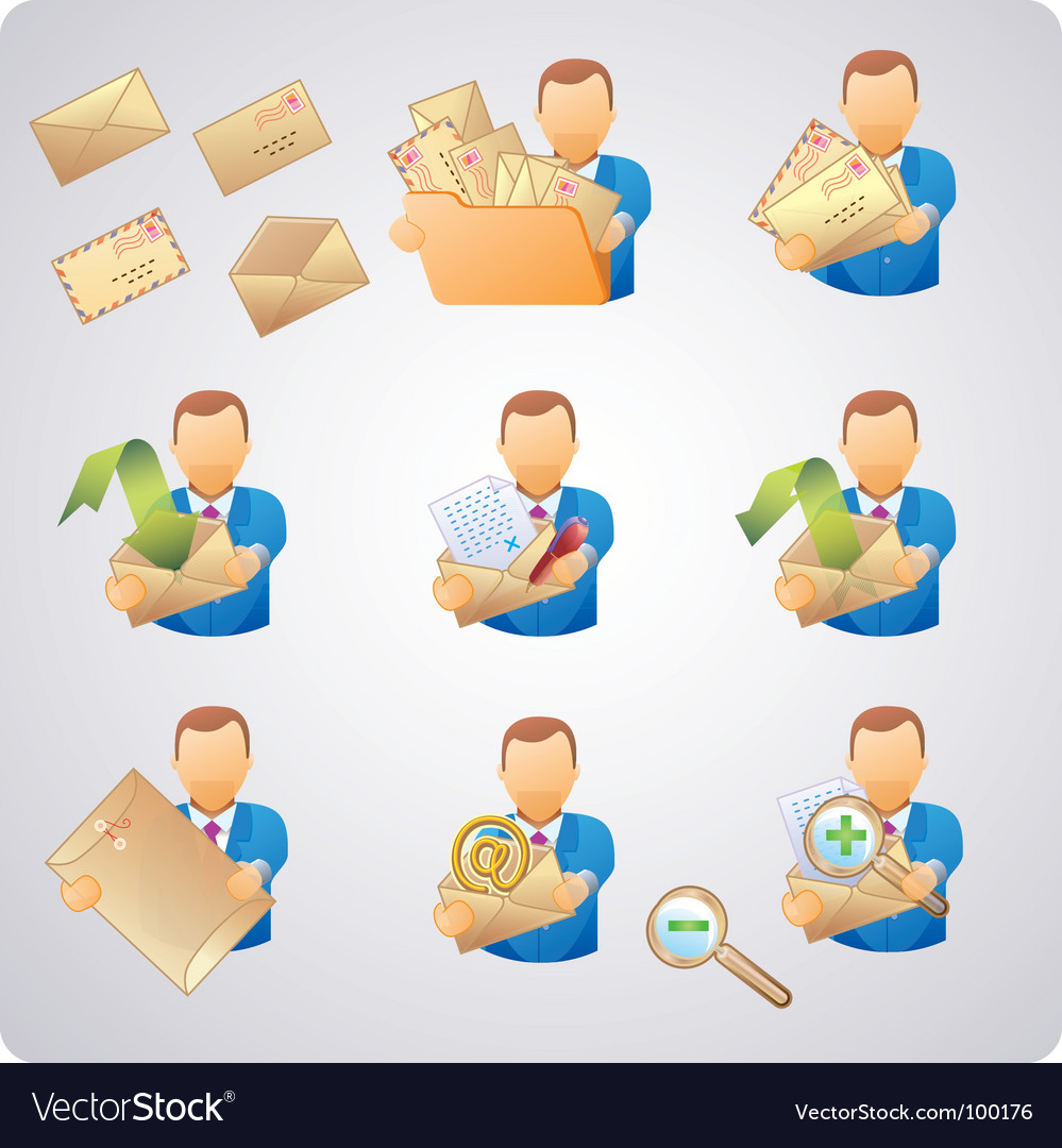 Mails users vector