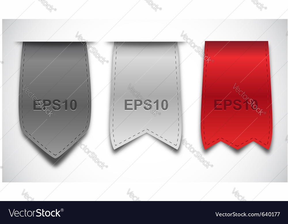 Bookmarks  ribbons vector