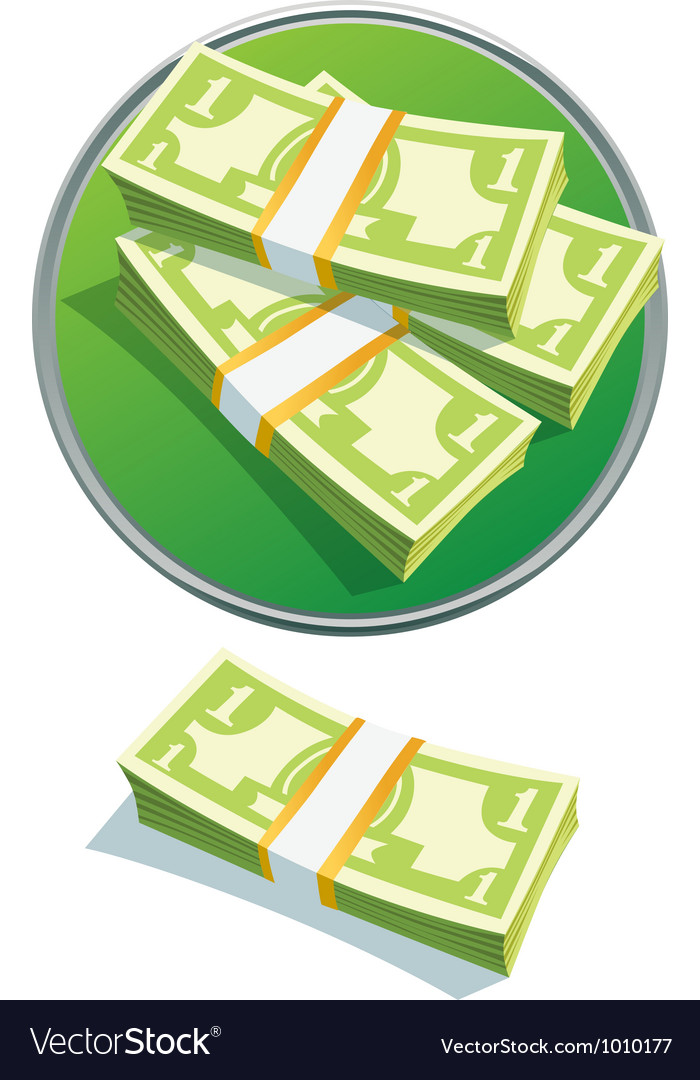 One dollar stack vector