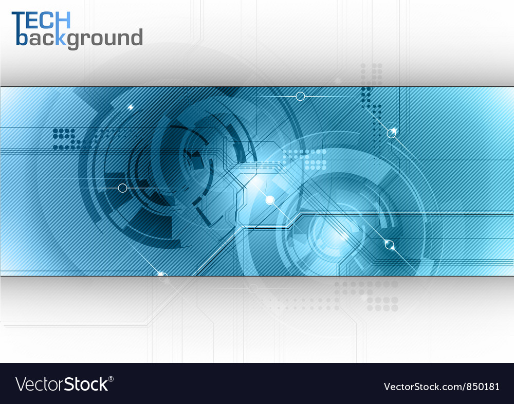 Tech background line blue center vector