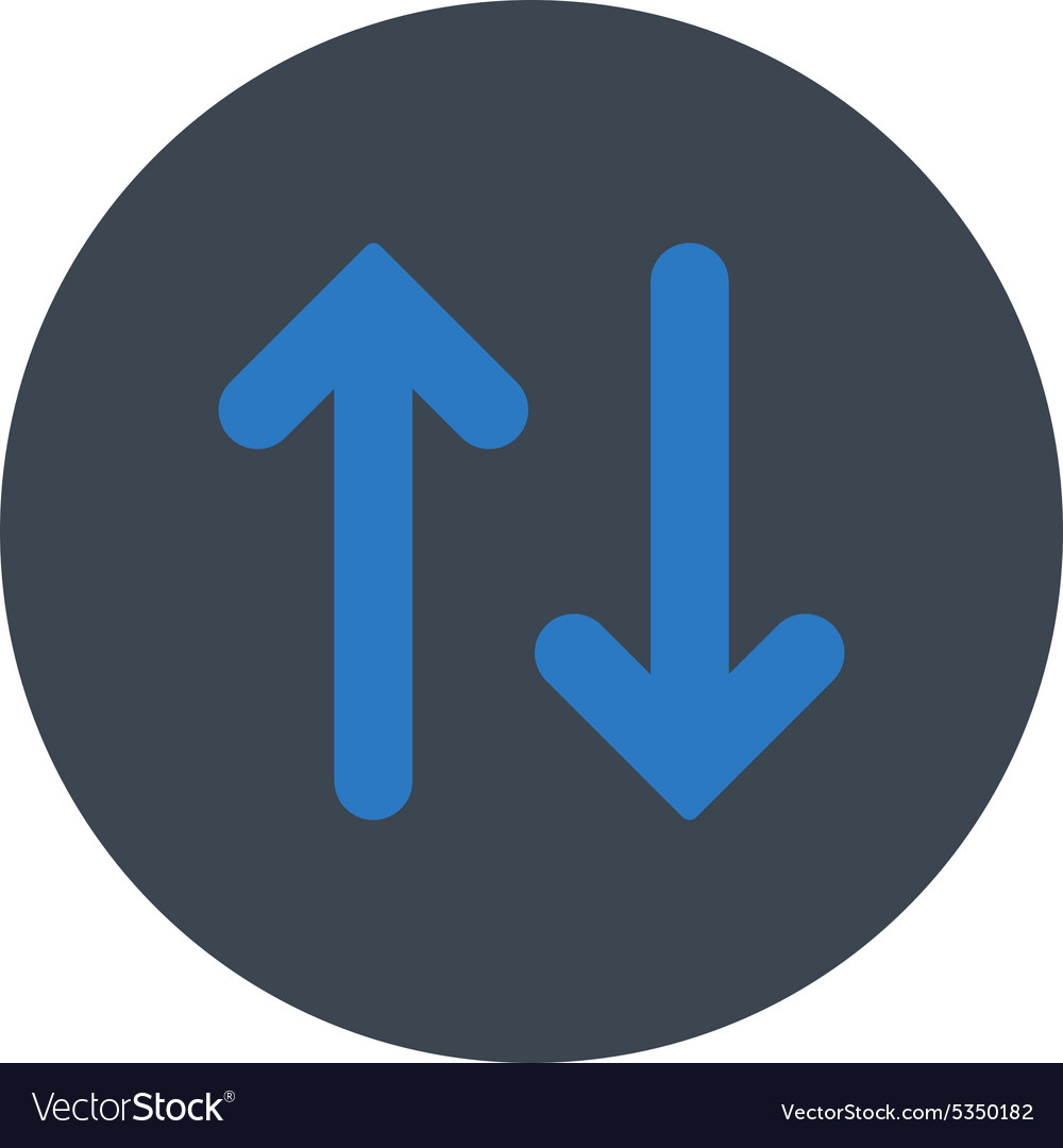 Flip flat smooth blue colors round button vector
