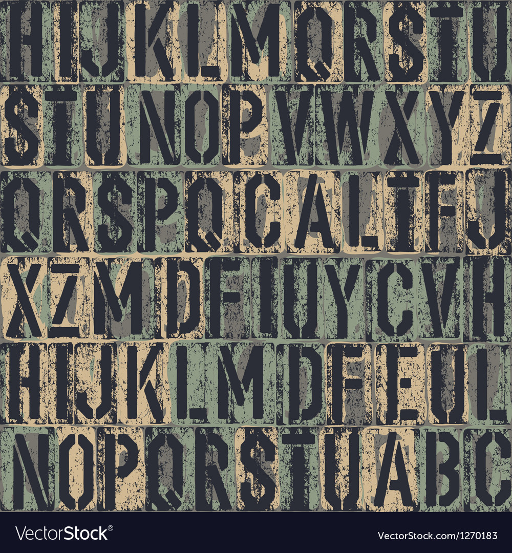 Grunge block letters background vector