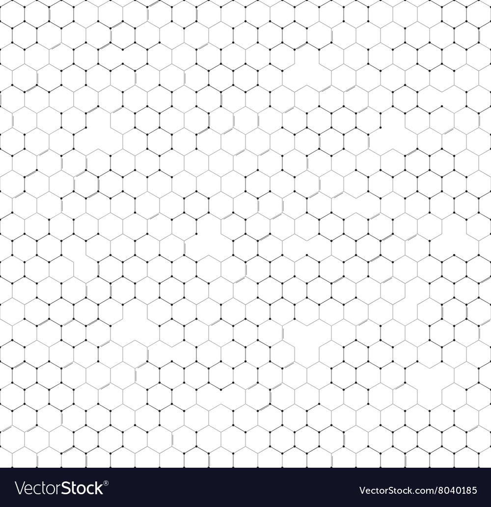 Chemistry seamless pattern hexagonal design vector