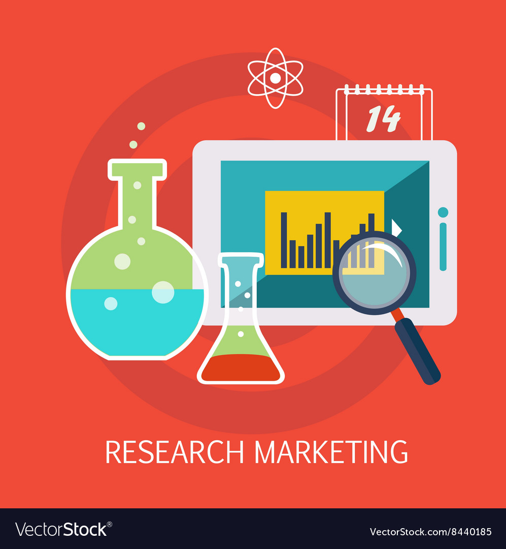 Research marketing concept art vector